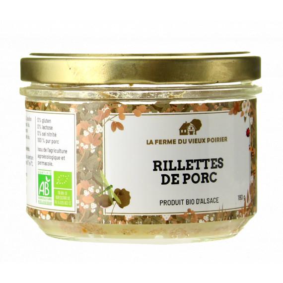 RILLETTE BIO 180G - LA FERME DU VIEUX POIRIER