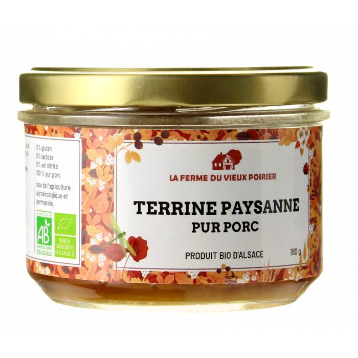 TERRINE PAYSANNE BIO 180G - LA FERME DU VIEUX POIRIER