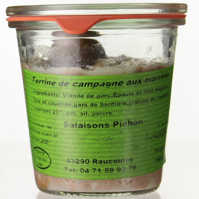 VERRINE AUX MARRONS 180G - SALAISONS PICHON