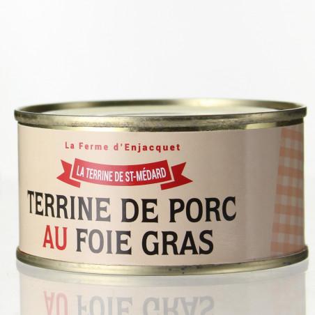 TERRINE DE PORC AU FOIE GRAS 200G - LA FERME D'ENJACQUET