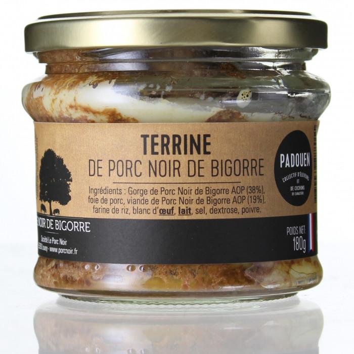 TERRINE DE PORC NOIR DE BIGORRE 180G - PADOUEN LE PORC NOIR