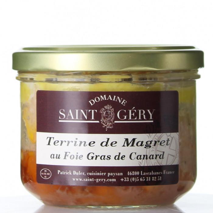 TERRINE DE MAGRET DE CANARD AU FOIE GRAS 180G - DOMAINE SAINT GERY