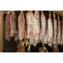 Afiinage en cave naturel du saucisson bio porc de gascon