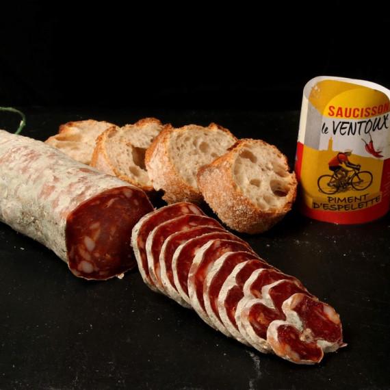 saucisson au porc et piment d'espelette