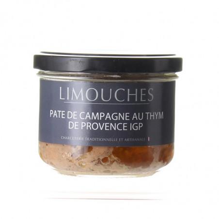 PATE DE CAMPAGNE AU THYM BOCAL 180G - CHARCUTERIE DES LIMOUCHES