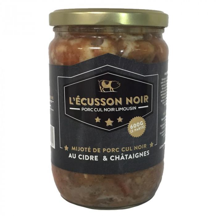 MIJOTE DE PORC CUL NOIR CIDRE CHATAIGNE 600G - L'ECUSSON NOIR