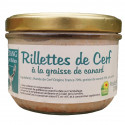 RILLETTES DE CERF A LA GRAISSE DE CANARD 200G - LA FERME DE L'ETANG