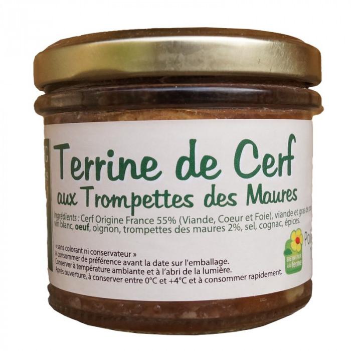 TERRINE DE CERF AUX TROMPETTES DE MAURES 100G - LA FERME DE L'ETANG