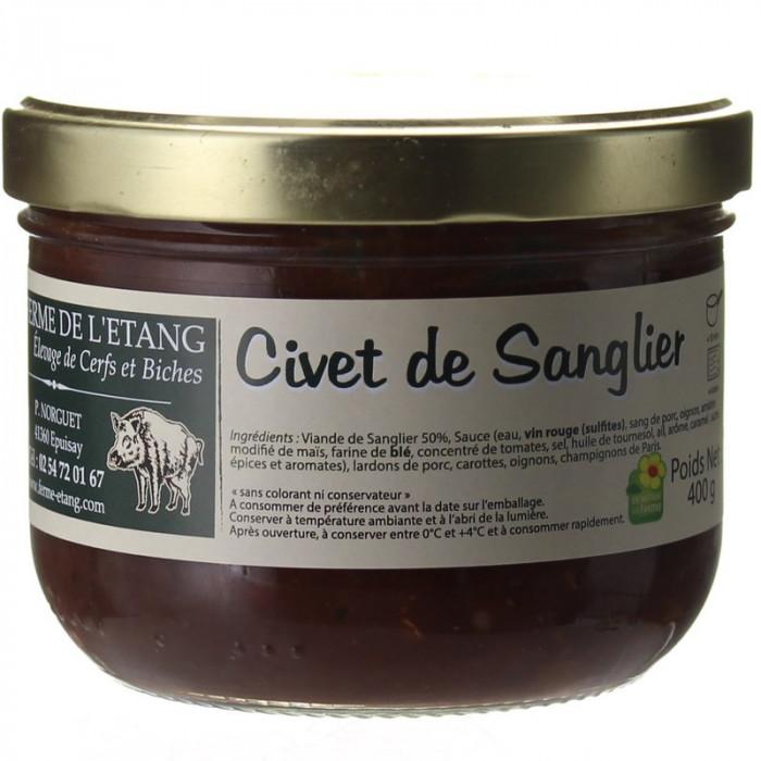 CIVET DE SANGLIER SAUVAGE 400G - LA FERME DE L'ETANG
