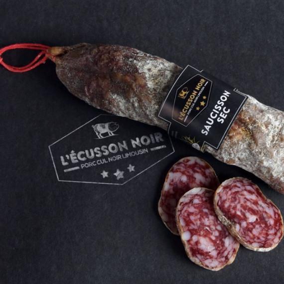 SAUCISSON PORC CUL NOIR DU LIMOUSIN - L'ECUSSON NOIR