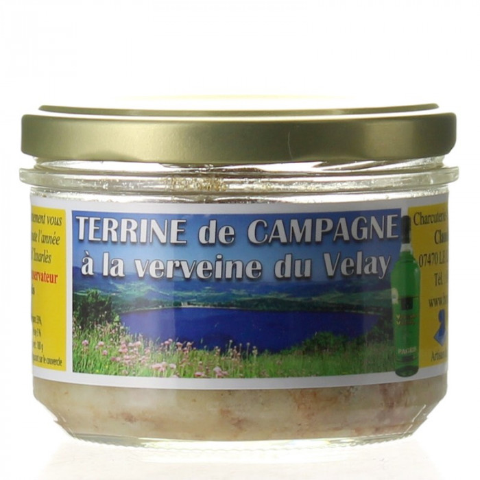 TERRINE A LA VERVEINE DU VELAY 180G - CHARCUTERIE LAFONT