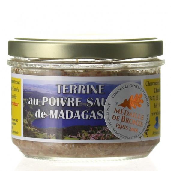 TERRINE AU POIVRE SAUVAGE DE MADAGASCAR 180G - CHARCUTERIE LAFONT