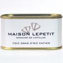 FOIE GRAS D'OIE ENTIER 130G - MAISON LEPETIT