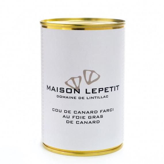 COU DE CANARD FARCI AU FOIE GRAS 400G - MAISON LEPETIT
