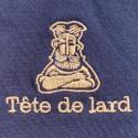 TEE-SHIRT EN COTON BIO BLEU MARINE - UNISEXE - TETE DE LARD
