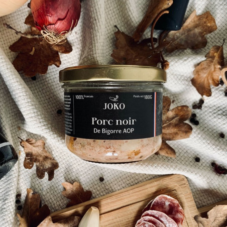 TERRINE DE PORC NOIR DE BIGORRE 180G - JOKO GASTRONOMIE